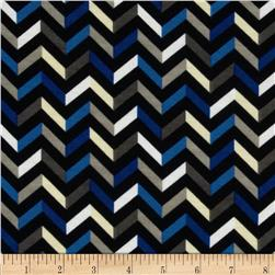 Fashionista Jersey Knit Small Chevron Black/Blue