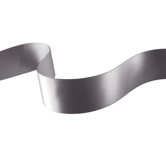 "1 1/2"" Double-sided Satin Ribbon Silver"