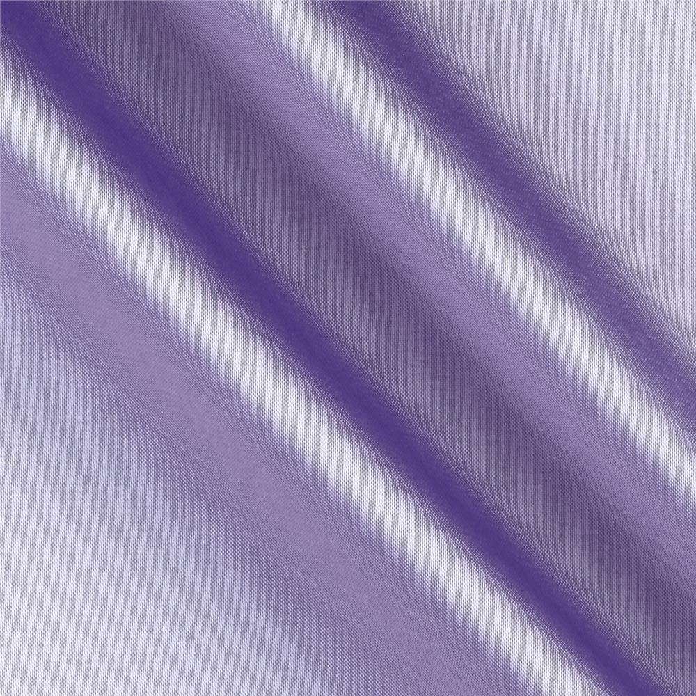 Silky Satin Charmeuse Solid Lilac Fabric By The Yard