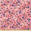 Cotton + Steel Rifle Paper Co. Les Fleurs Carousel Pink