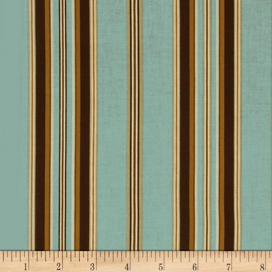 Berkley Square Wide Stripe Pale Blue