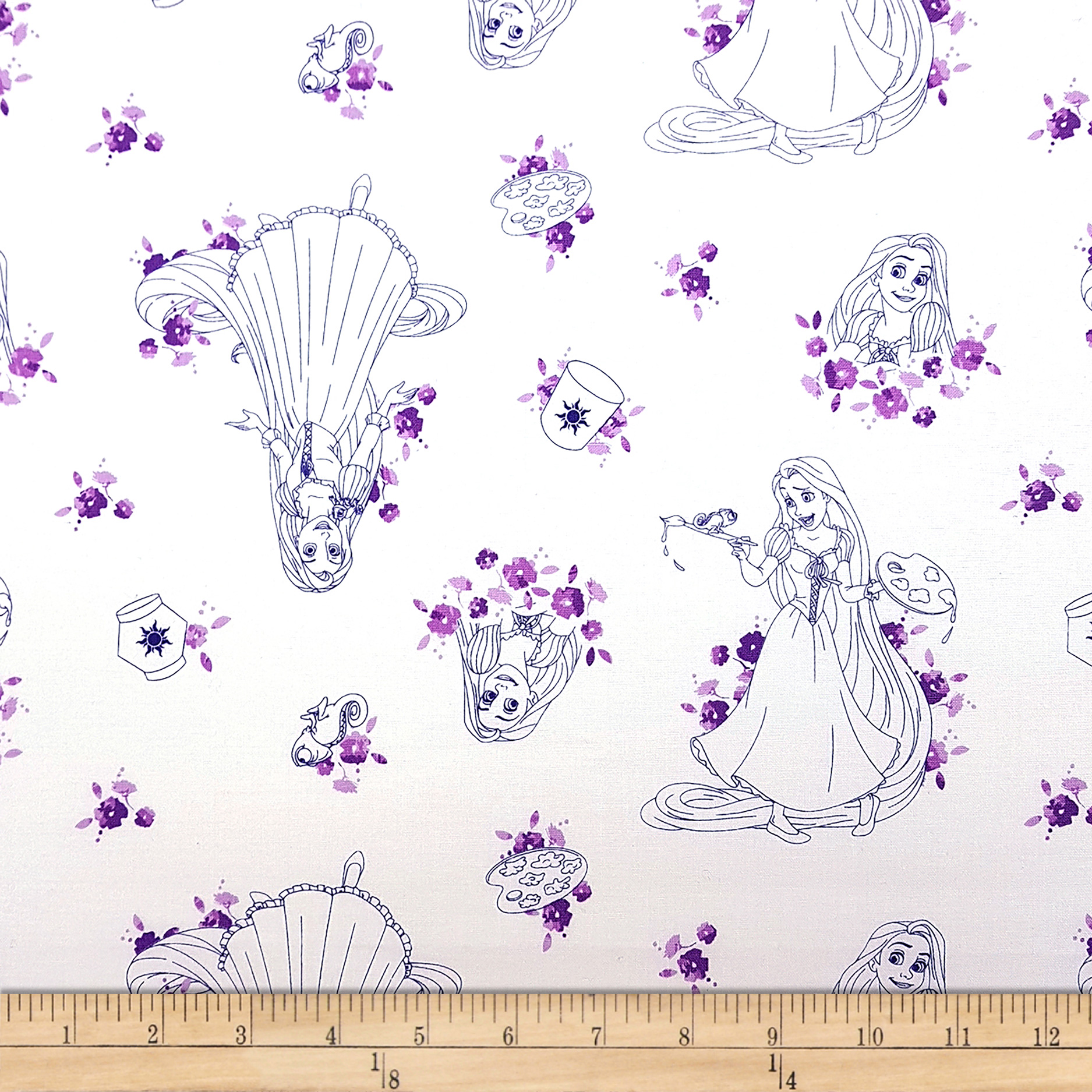 Disney Forever Princess Rapunzel Toile in Purple Fabric