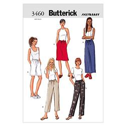 Butterick Misses'/ Misses' Petite Skirt, Shorts & Pants Pattern B3460 Size 080