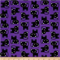 Kaufman Urban Zoologie Cats Purple