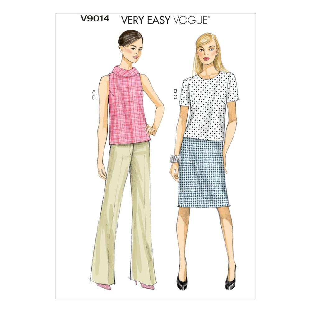 Vogue Misses' Top, Skirt and Pants Pattern V9014 Size A50