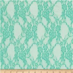 Stretch Summer Floral Lace Mint