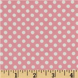 Spot On Mini Dots Pink Fabric