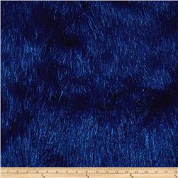 Faux Fur Electric Shag Royal Blue Fabric