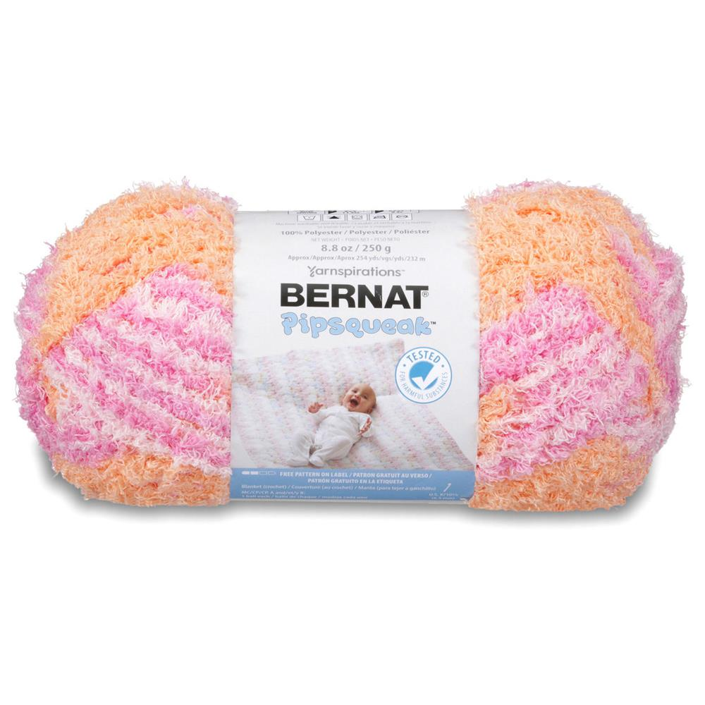 Bernat Pipsqueak Big Ball Yarn (58502) Peach Swirl