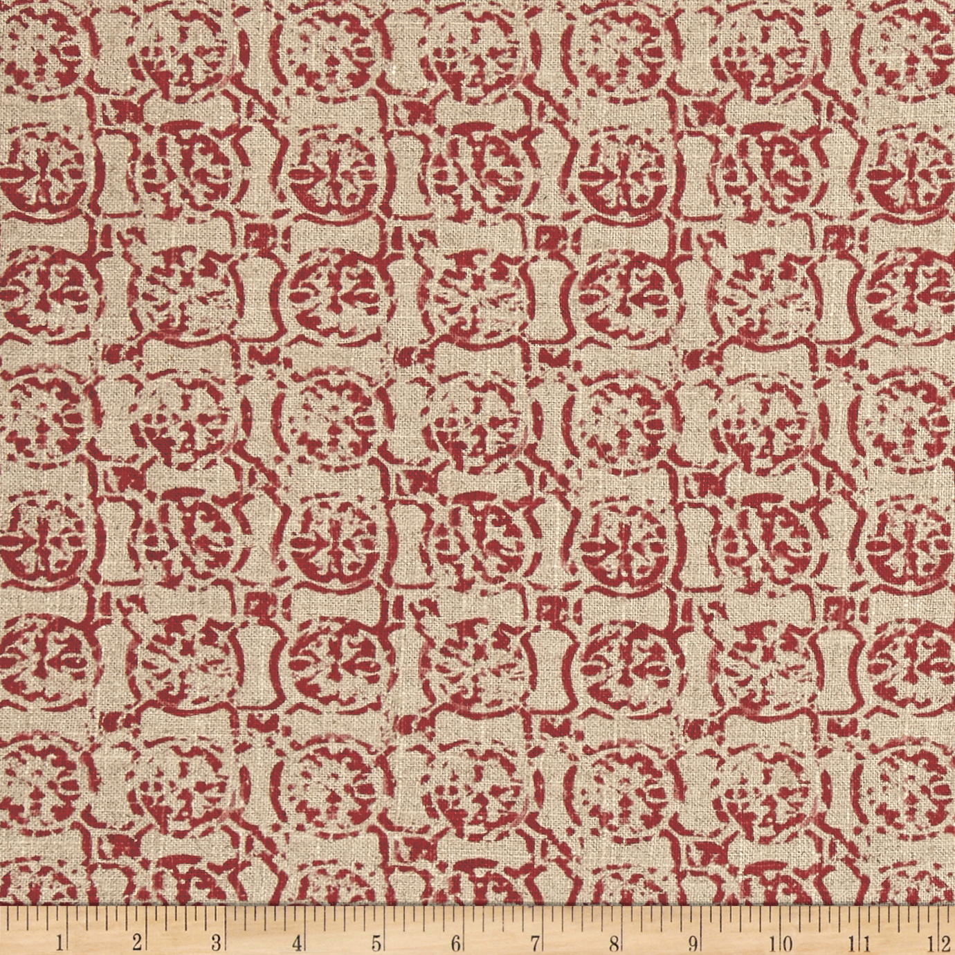 Lacefield Castille Linen Salmon Fabric by Lacefield in USA