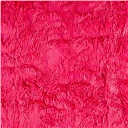 Minky Crushed Soft Cuddle Fuchsia