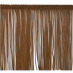 6'' Chainette Fringe Trim Cocoa Fabric