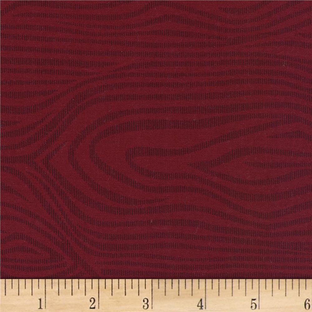 "110"" Wide Quilt Back Moire Burgundy"