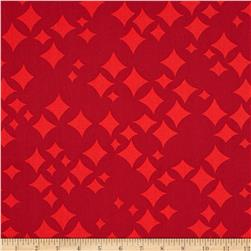 Jazz Jam Scattered Diamonds Red Fabric