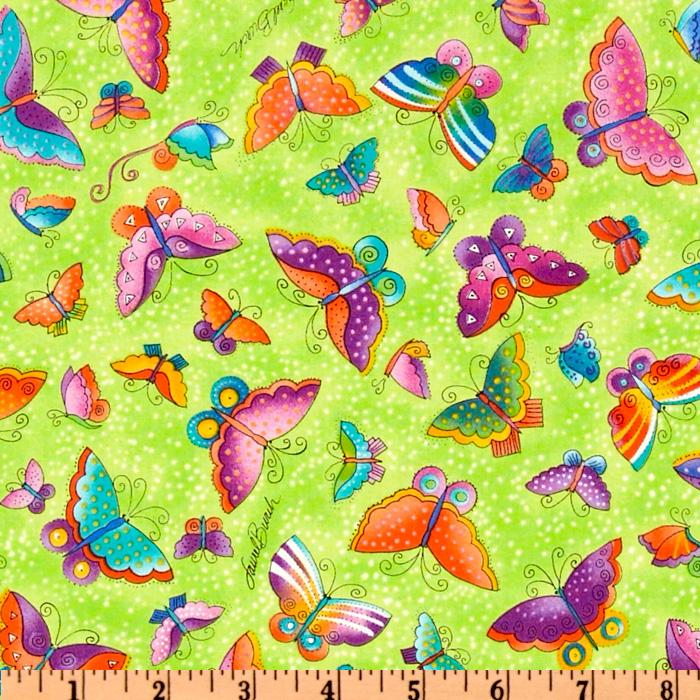 Laurel Burch Flying Colors II Large Butterfly Lime