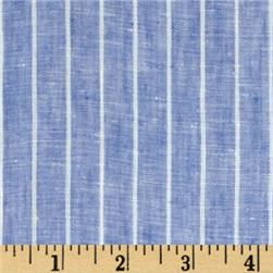 Tuscany Pinstripe Chambray Linen Light Blue/Beige