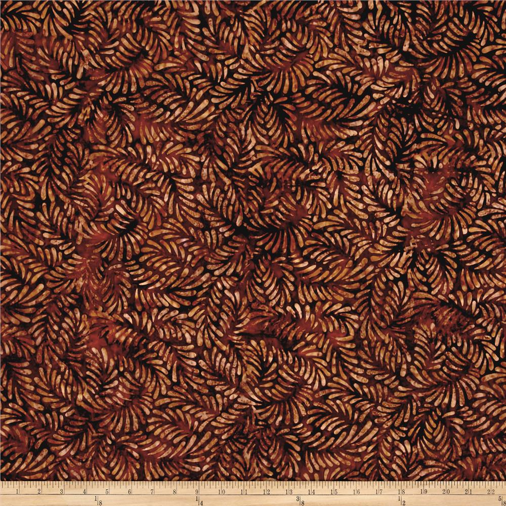 Wilmington Batiks Feathers Dark Brown