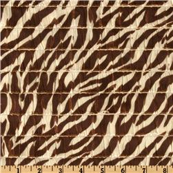 Stretch Ruffle Knit Zebra Brown