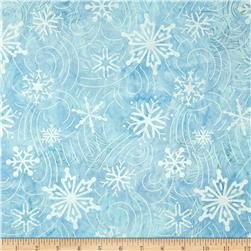 Robert Kaufman Artisan Batiks Metallic Noel Large Flakes Swirl Cloud