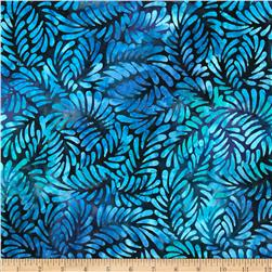 Batavian Batiks Feathers Dark Blue