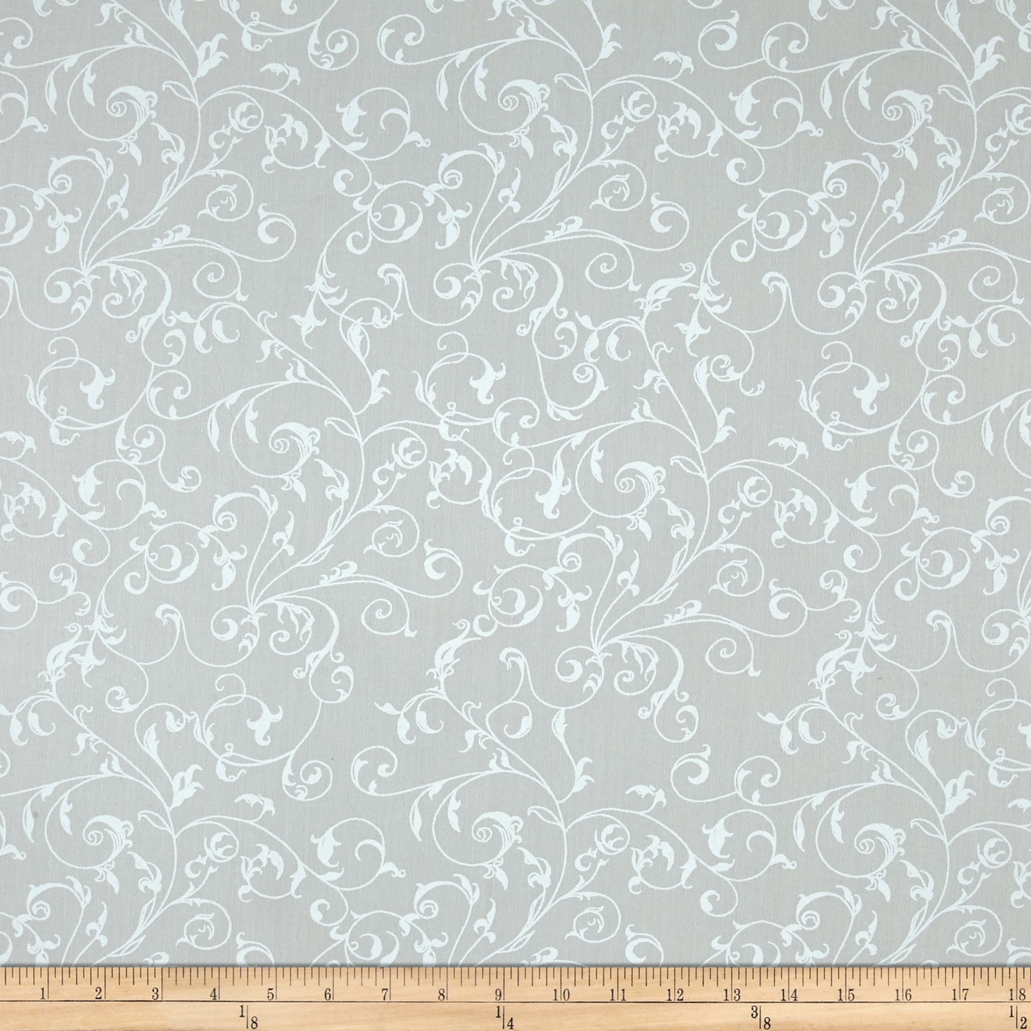 110'' Wide Quilt Back Filigree Seafoam Fabric by Westrade in USA