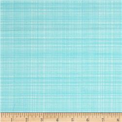 Hand Picked Organic Grid Aqua