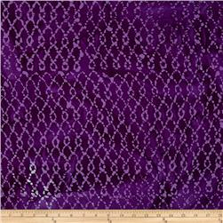 Indian Batik Hollow Ridge Grid Purple
