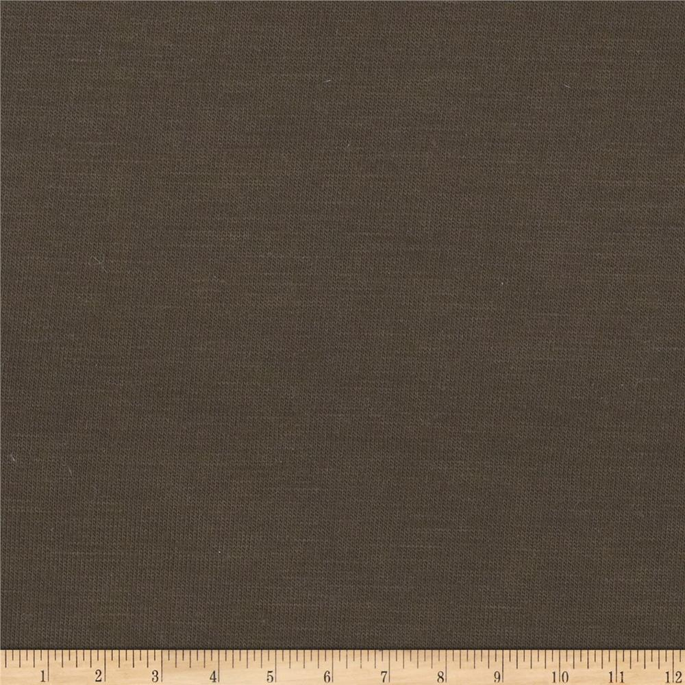 Lightweight Stretch Jersey Knit Brown