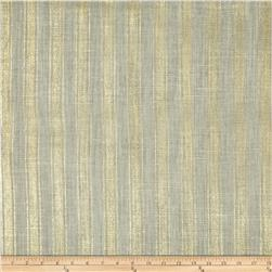 60'' Metallic Foil Stripe Burlap Oyster/Gold Fabric