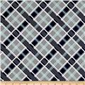 Riley Blake Keep On Groovin' Plaid Gray