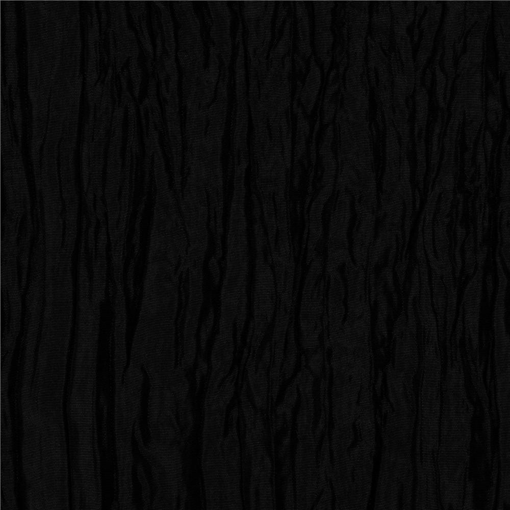 Crushed taffeta black discount designer fabric for Black fabric