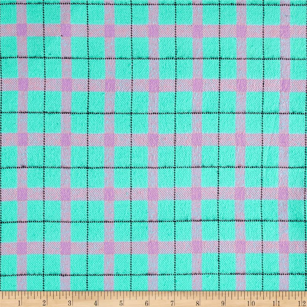 Marcus Primo Plaids Color Crush Flannel Block Plaid Aqua