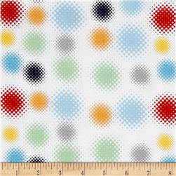 Riley Blake Super Hero Dots White/Multi Fabric