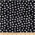 Born To Quilt Chalk Dots Black