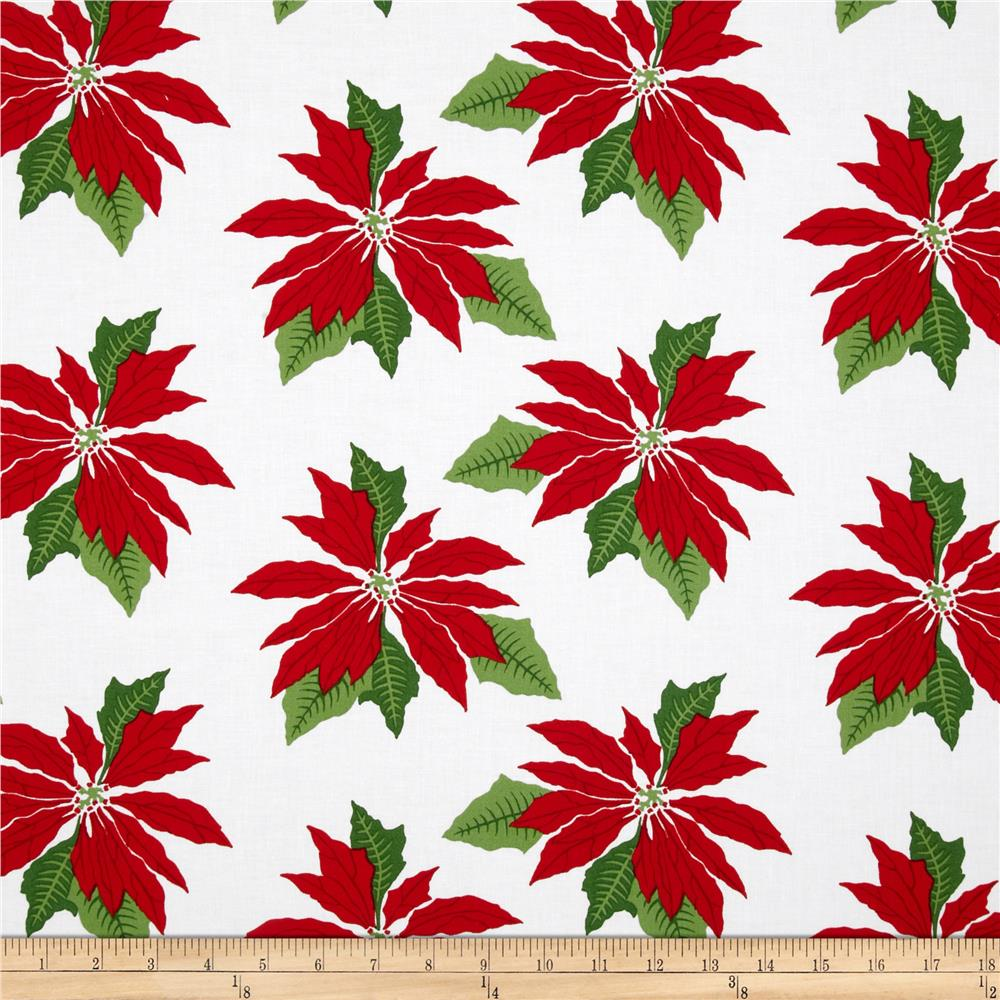 Where's Rudolph? Poinsettia White/Red