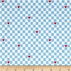 Going Steady Checkerboard Hearts Perwinkle