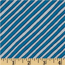Goodnight Moon Diagonal Stripe Blue