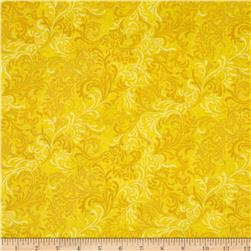 Essentials 108'' Wide Quilt Back Flourish Yellow Fabric