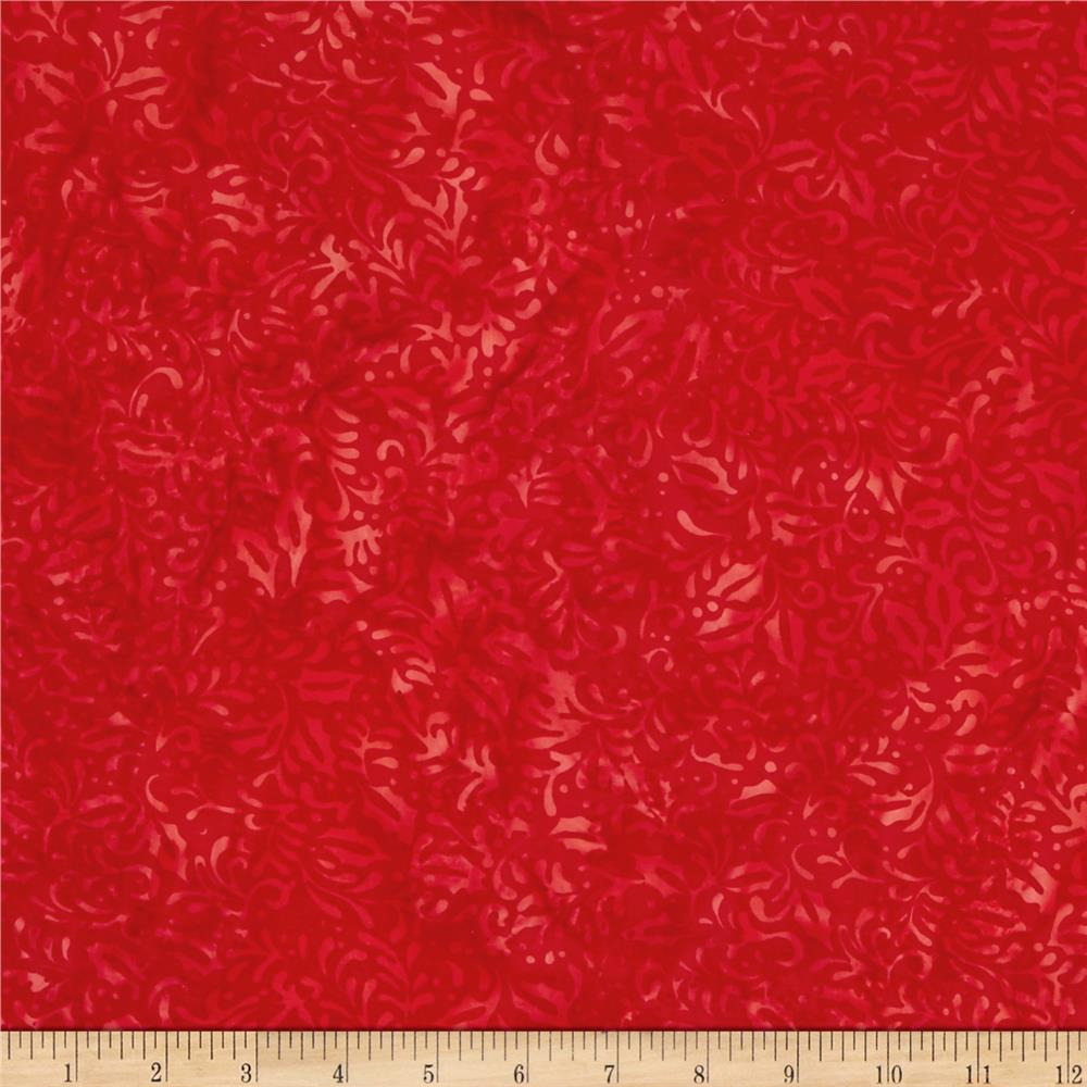 Island Batik Holiday Happenings Holly Red