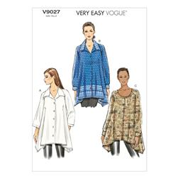Vogue Misses' Tunic Pattern V9027 Size 0Y0