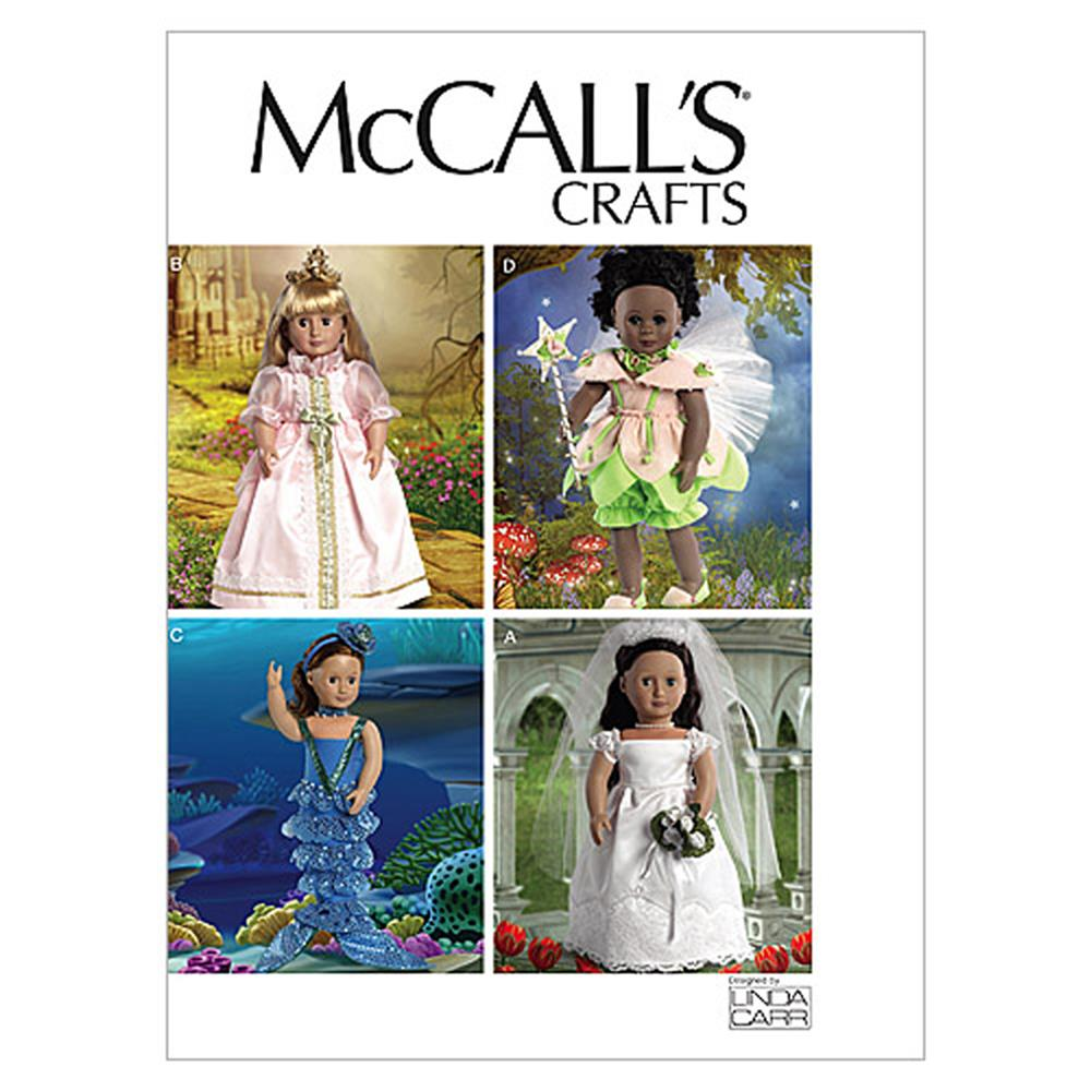 "McCall's 18"" (46cm) Doll Costumes Pattern M6452 Size OSZ"
