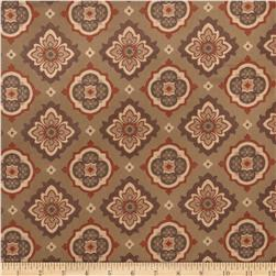 Jaclyn Smith 02129 Medallion Jacquard Garden Spice