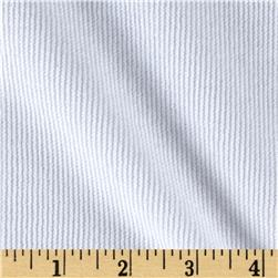 Single Sided Rib Knit True White
