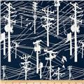 Grafic Power Lines Navy