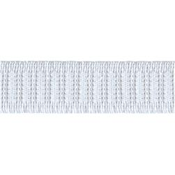 3/4'' Non-Roll Flat Elastic White - By the