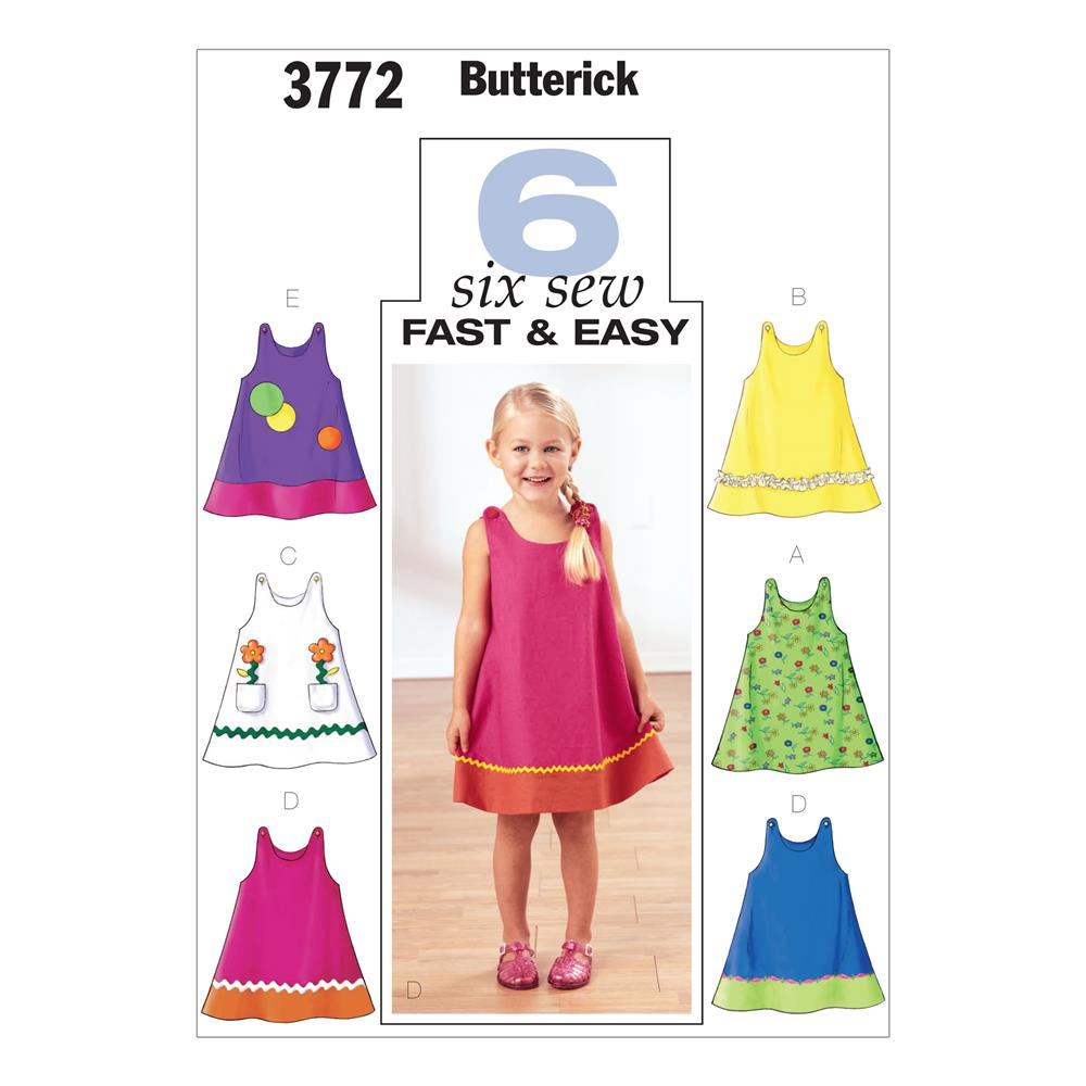 Butterick toddler 39 s children 39 s dress pattern b3772 size for Childrens dress fabric