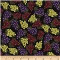 Timeless Treasures Grapes Black