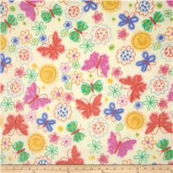 Fleece Prints Butterflies Yellow/Multi