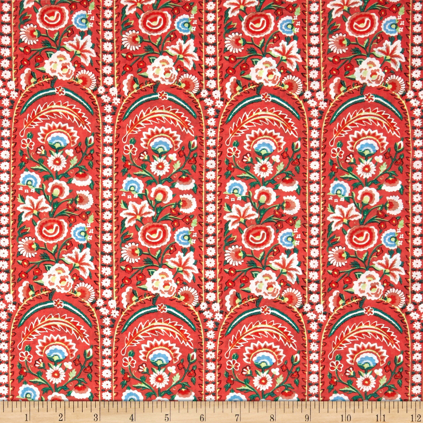 Image of Liberty of London Tana Lawn Von Trapp Coral Fabric