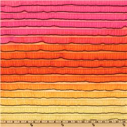 Rainbow Ruffle Knit Orange/Pink
